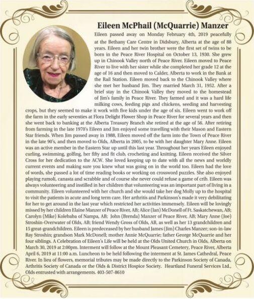 Eileen McPhail (McQuarrie)  MANZER