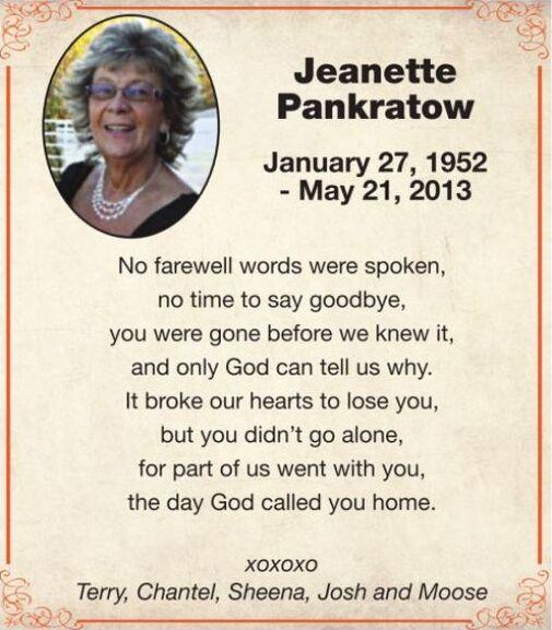 Jeanette  PANKRATOW