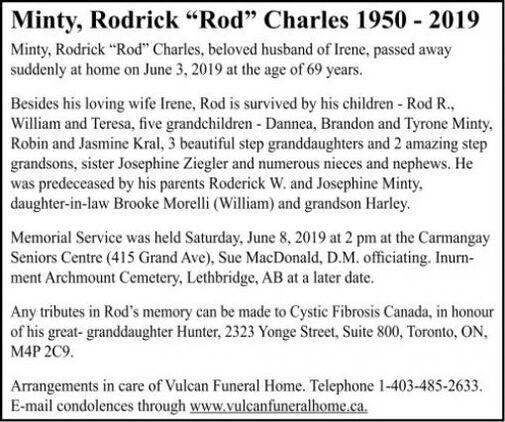 Rodrick Rod Charles  MINTY