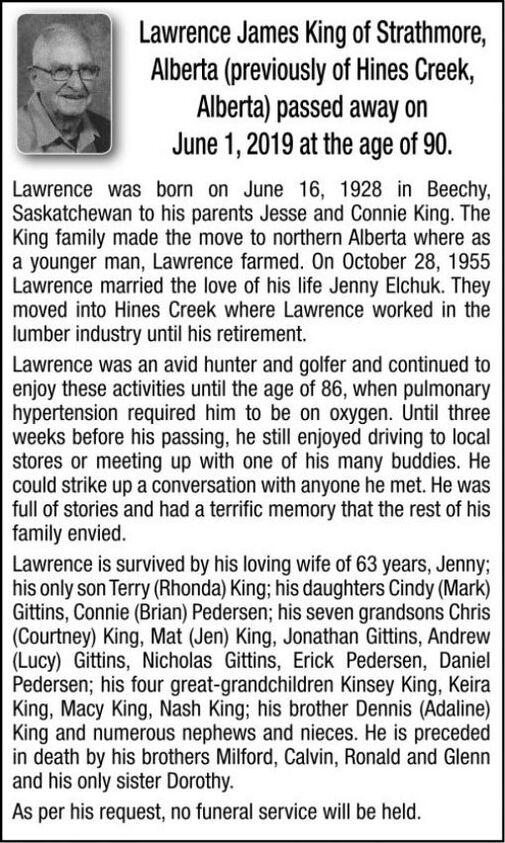 Lawrense James  KING