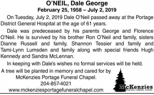 Dale George  ONEIL