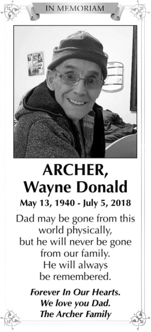 Wayne Donald  ARCHER