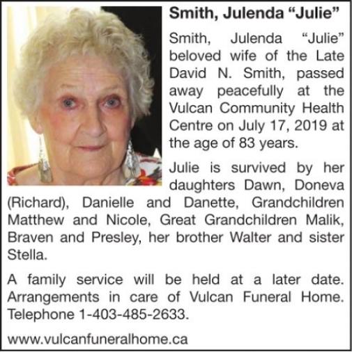Julenda Julie  SMITH