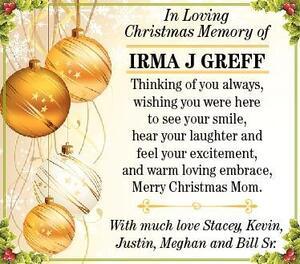 Irma J  Greff