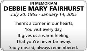 Debbie-Mary  Fairhurst