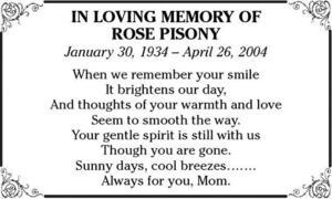 Rose  Pisony