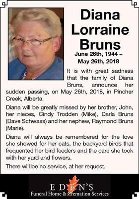 Diana Lorraine  Bruns