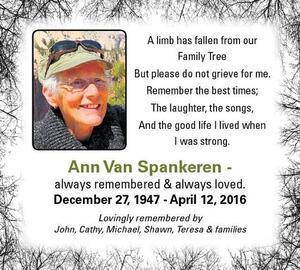 Ann  Van Spankeren