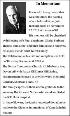 John Richard  BOAST