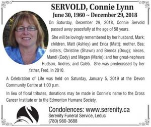 Connie Lynn  SERVOLD