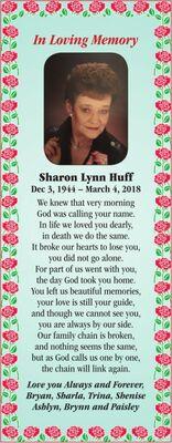Sharon Lynn  HUFF