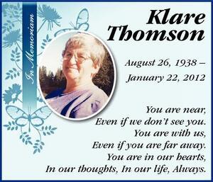 Klare  Thomson