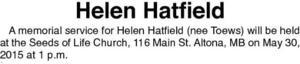 Helen  Hatfield