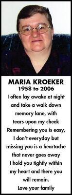 Maria..-..  Kroeker
