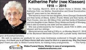 Katherine  Fehr