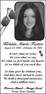 Kristin Marie  FOSTER