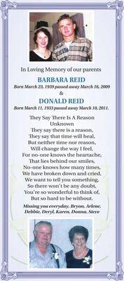 Barbara & Donald  REID
