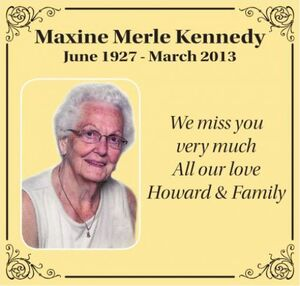 Maxine Merle  KENNEDY
