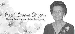 HAZEL LOVENE  CLAYTON
