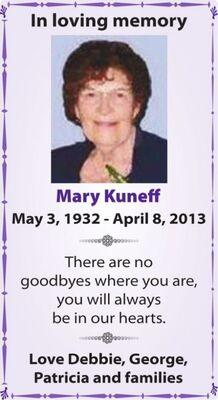 Mary  KUNEFF