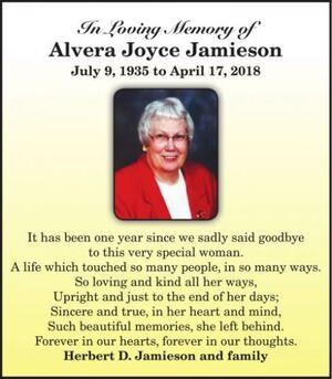 Alvera Joyce  JAMIESON