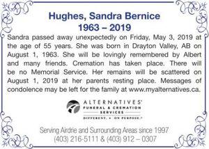 Sandra Bernice  HUGHES