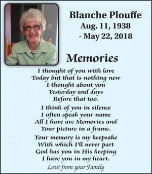 Blanche  PLOUFFE