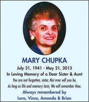 Mary  CHUPKA