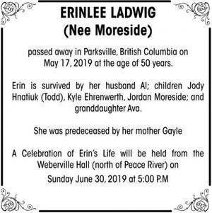 Erinlee (Nee Moreside)  LADWIG