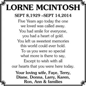 Lorne  MCINTOSH
