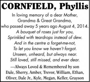 Phyllis  CORNFIELD
