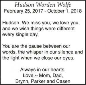 Hudson Wolfe  WORDEN