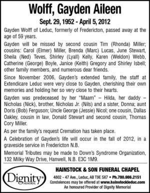 Leduc County Market Obituaries