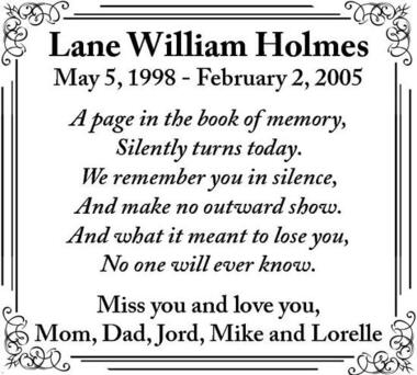 Lane  Holmes