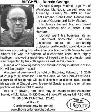 Donald George  MITCHELL