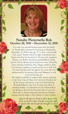 Natalie Pieternella  BOK
