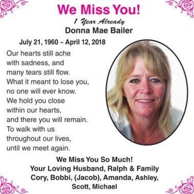 Donna Mae  BAILER