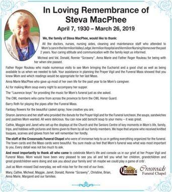 Steva  MacPhee