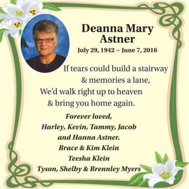 Deanna Mary  ASTNER