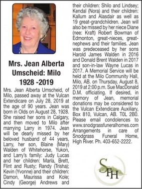 Jean Alberta  UMSCHEID