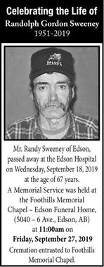 Randolph Gordon  SWEENEY