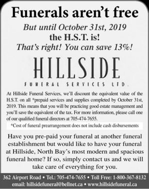 At  Hillside Funeral Services