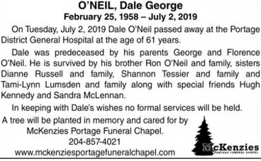 Dale George  O'NEIL