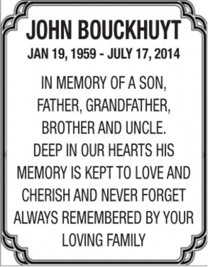 John  BOUCKHUYT