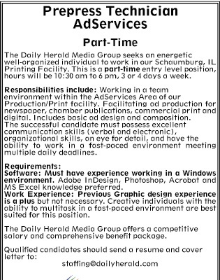 Daily Herald | Classifieds | Help Wanted | Prepress ...