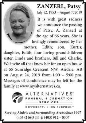 Obituaries   Airdrie Echo