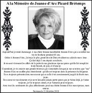 Jeanne dArc Picard Bretemps