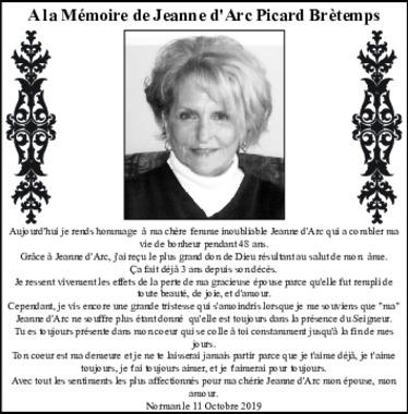 Jeanne d'Arc Picard Bretemps