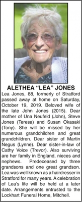 Alethea Lea  JONES