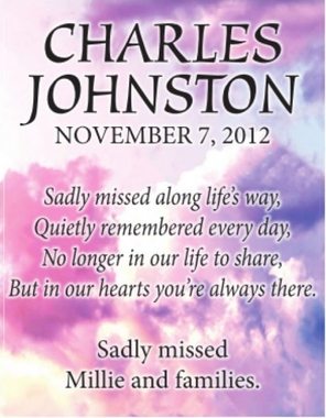 Charles  JOHNSTON